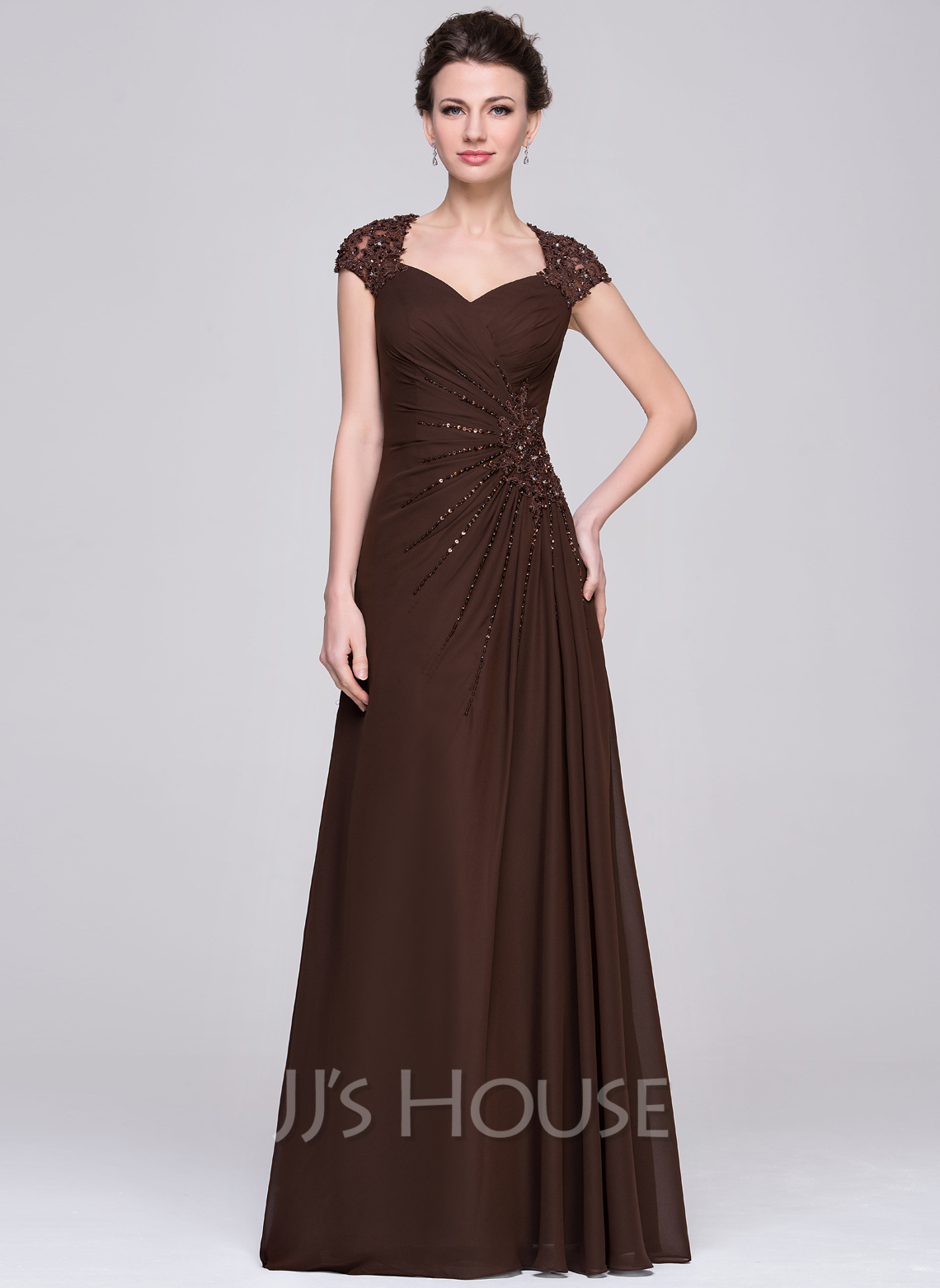 A Line Chiffon Mother Of The Bride Dress 121
