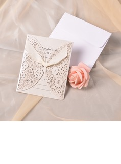 Classic Style Gate-Fold Invitation Cards With Ribbons (set of 50) (118040263)