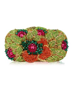 Unique Crystal/ Rhinestone With Flower Clutches