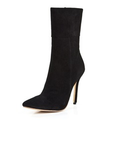 Suede Stiletto Heel Ankle Boots shoes