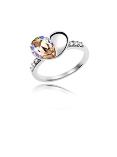 Sweet Heart Platinum Plated Ladies' Rings