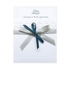 Classic Style Wrap & Pocket Invitation Cards With Ribbons (set of 50) (118040272)