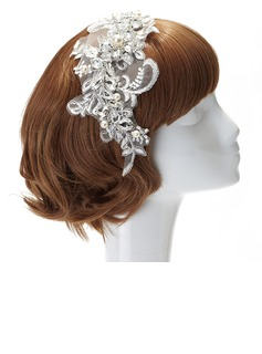 Fashion Imitation Pearls/Lace Headbands