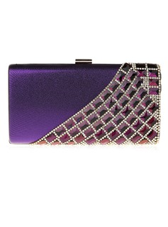 Charming PU With Acrylic Jewels Clutches