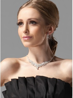 Gorgeous Alloy With Rhinestones Wedding Bridal Jewelry Set(011004472)
