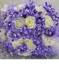 Comely Round Satin/Artificial Silk Bridesmaid Bouquets