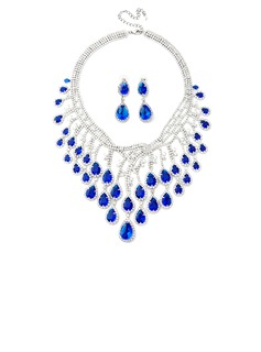 Luxurious Alloy/Czech Stones/Zircon Ladies' Jewelry Sets (011039308)