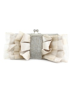Charming Satin/Silk With Rhinestone Clutches