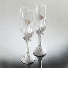 Butterfly Theme Toasting Flutes (Set Of 2)
