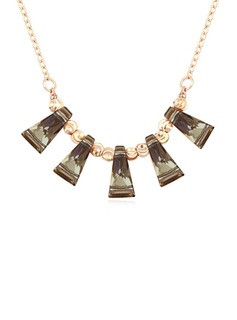 Beautiful Gold Plated Crystal Ladies' Fashion Necklace