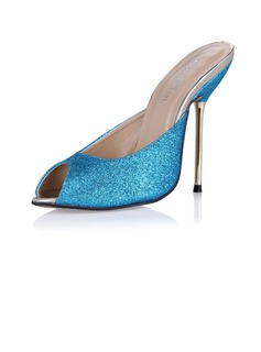 Sparkling Glitter Stiletto Heel Sandals Pumps Slingbacks shoes