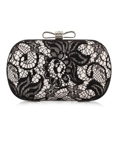 Gorgeous Polyester With Lace Clutches