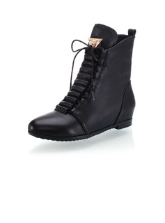 Real Leather Low Heel Ankle Boots shoes (088039454)