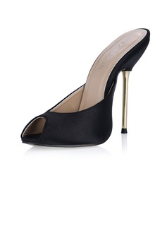 Satin Stiletto Heel Sandals Pumps Slingbacks shoes
