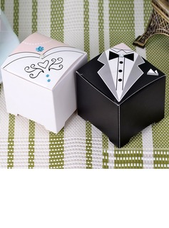 Tuxedo & Gown Cuboid Favor Boxes (Set of 6 Pairs)