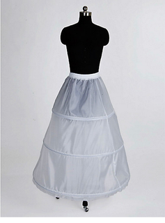 Nylon A-Line Full Gown 1 Tier Floor-length Slip Style/ Wedding Petticoats  (037023565)