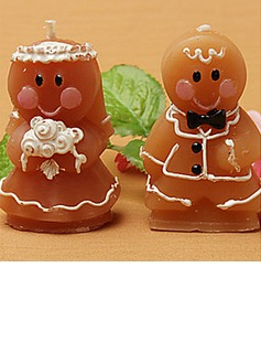 Adorable Gingerbread Bride & Groom Candle Favors(set of 8)(096017656)