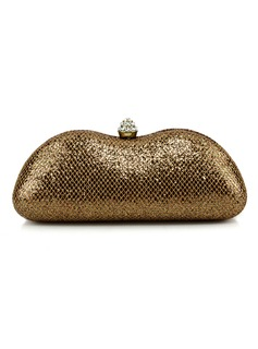 Elegant Abrasive Cloth With Sequin/Glitter Clutches