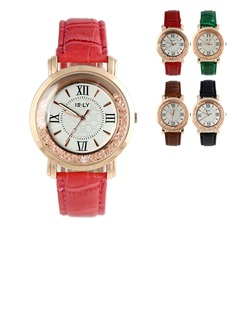Beautiful Leatherette Metal Ladies' Watches