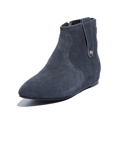 Real Leather Low Heel Ankle Boots shoes