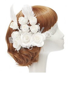 Exquisite Artificial Silk/Feather Flowers & Feathers
