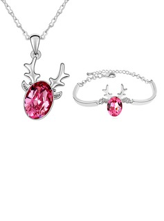 Crystal/Platinum Plated Ladies' Jewelry Sets