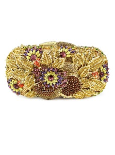 Gorgeous Metal With Flower/Rhinestone Clutches