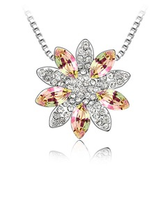 Shining Crystal/Platinum Plated Ladies' Necklaces