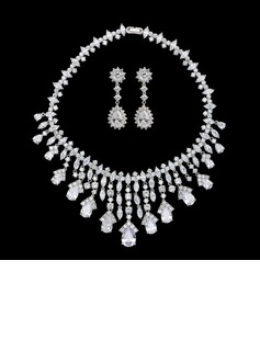 Magnificent Zircon/Platinum Plated Ladies' Jewelry Sets