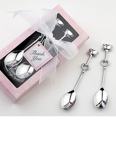 Silver Teacups Spoon Set Wedding Favor (051007577)