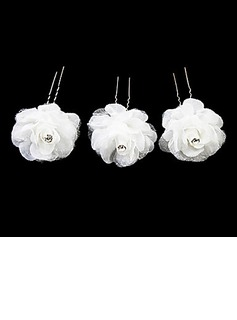 Beautiful Alloy Satin Hairpins (Set of 3)