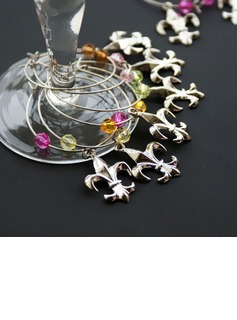 Non-Personalized Fleur De Lis Charms (Set of 6 Pieces)