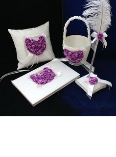 Lilac Rose Heart Designed Satin Collection Set (100040242)