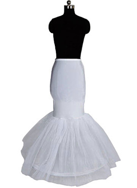 Women Nylon/Tulle Netting Floor-length 1 Tiers Petticoats (037004194)