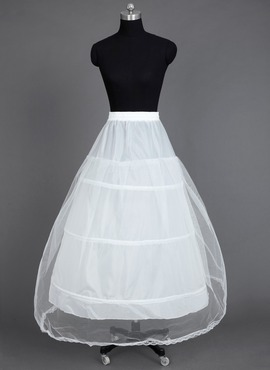 Women Nylon/Tulle Netting Floor-length 1 Tiers Petticoats (037031005)