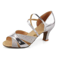 Leatherette Heels Sandals Latin Ballroom Dance Shoes (053007246)