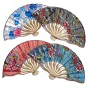 Floral Design Bamboo/Silk Hand fan  (051040143)
