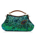 Shining Satin with Beading/Sequin Clutches/Wristlets (012068176)