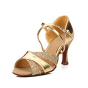 Women's Leatherette Heels Sandals Latin With Ankle Strap Dance Shoes (053052423)