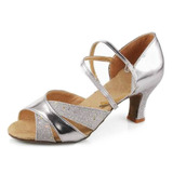 Women's Leatherette Heels Sandals Latin Ballroom Dance Shoes (053007246)