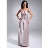 Empire Sweetheart Floor-Length Charmeuse Bridesmaid Dress With Beading