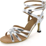 Patent Leather Heels Sandals Latin Salsa Dance Shoes