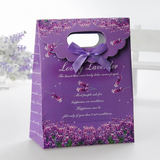 Floral Design Favor Bags With Ribbons (Set of 12)