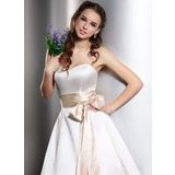 Women Charmeuse Tea-Length Sash (015036871)