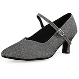 Fabric Heels Pumps Modern Dance Shoes