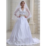 Waltz Veils Tulle Two-tier Ribbon Edge Wedding Veils With Angel Cut/Waterfall (006022583)