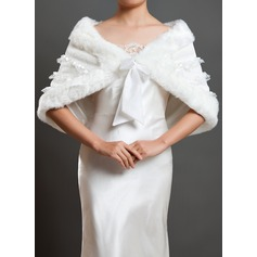 Charmeuse Faux Fur Wedding Shawl