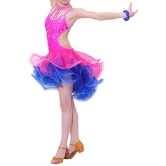 Kids' Dancewear Polyester Latin Dance Dresses (115086682)