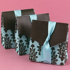 Turquoise And Brown Flourish Favor Box (Set of 12) (050005744)