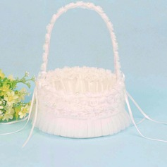 Beautiful Flower Basket With Ribbons/Petals